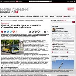 Mobilité : Grenoble lance un laboratoire d'innovation avec les habitants – – Environnement-magazine.fr