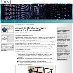 Laboratoire d'Archéologie Moléculaire et Structurale (LAMS) - Appareil de diffraction des rayons X associé à la fluorescence X