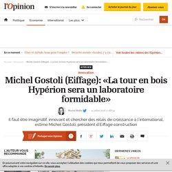 Michel Gostoli (Eiffage): «La tour en bois Hypérion sera un laboratoire formidable»