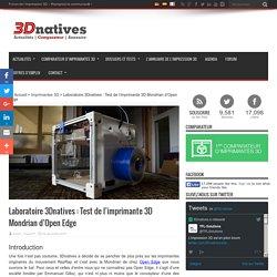 Laboratoire 3Dnatives : Test de l'imprimante 3D Mondrian d'Open Edge