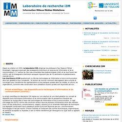 Laboratoire de recherche i3M - Information Milieux Médias Médiations