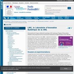 LINC, le Laboratoire d'Innovation Numérique de la CNIL — Enseigner avec le numérique