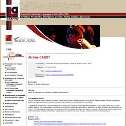 UT2J - Laboratoire Lettres, Langages et Arts (LLA CREATIS) - CABOT Jérôme