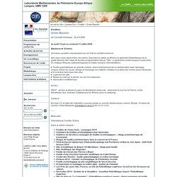 Laboratoire Méditerranéen de Préhistoire Europe Afrique - Grotte Mandrin