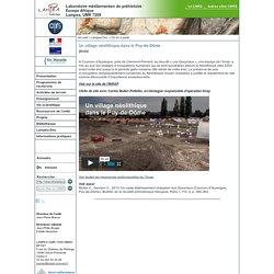 Laboratoire Méditerranéen de Préhistoire Europe Afrique - LAMPEA - Un village néolithique dans le Puy-de-Dôme
