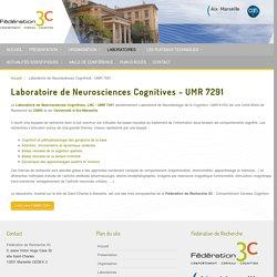 Laboratoire de Neurosciences Cognitives - UMR 7291