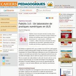 FabUlis 3.0 : Un laboratoire de pratiques numériques en ULIS
