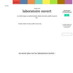 Laboratoire ouvert