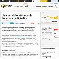 """Limoges, """"laboratoire"""" de la démocratie participative"""