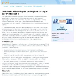 Comment développer un regard critique sur l'internet ? | Cri - Greta du Velay