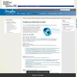 CANADA / Conférence Internet et santé - Laboratoire de recherche sur les psychotraumatismes