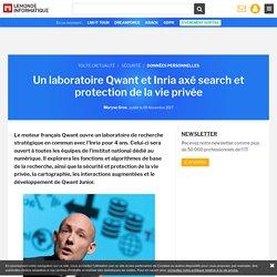 Un laboratoire Qwant et Inria axé search et protection de la vie privée