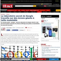 Le laboratoire secret de Google travaille sur des écrans géants à taille modulable