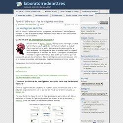 Rendre l'élève actif : les intelligences multiples - laboratoiredelettres