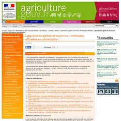 MAAF-Microbiologie alimentaire - Liste des laboratoires agréés