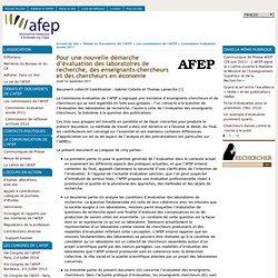 Pour une nouvelle démarche d'évaluation des laboratoires de recherche, des enseignants-chercheurs et des chercheurs en économie - [ Association Française d'Economie Politique]