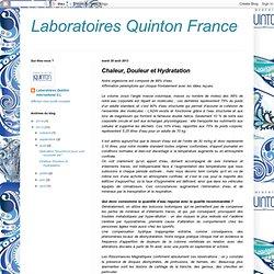 Laboratoires Quinton France: Chaleur, Douleur et Hydratation