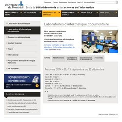 Laboratoires d'informatique documentaire