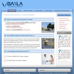 Laboratoires d'analyses médicales de la Côte d'azur de Menton à Cannes - Labco06.fr - Le laboratoire B.A.R.L.A. (Nice Garibaldi)