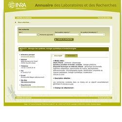 INRA Domaine de Vilvert - MICA-CT1 : Biologie des systèmes, biologie synthétique et biotechnologies