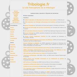 Laboratoires sur Tribologie.fr