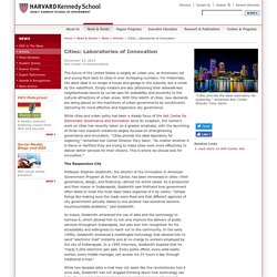 Harvard Kennedy School - Cities: Laboratories of Innovation