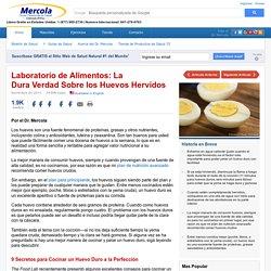 Laboratorio de Alimentos: La Triste Verdad Sobre los Huevos Hervidos