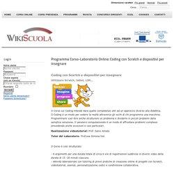 Programma Corso-Laboratorio Online: Coding con Scratch e dispositivi per insegnare
