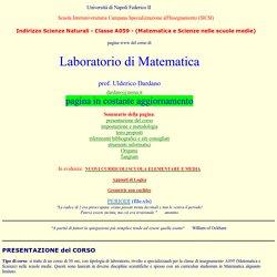 Ulderico Dardano, LABORATORIO di MATEMATICA (per le scuole medie), SICSI-SN A059