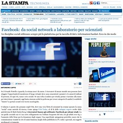 Facebook: da social network a laboratorio per scienziati