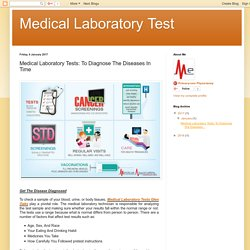 Medical Laboratory Tests: To Diagnose The Diseases In Time