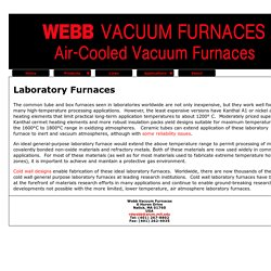 High Temperature Laboratory Furnace - Webbvacuumfurnaces