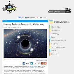 Hawking Radiation Recreated In A Laboratory