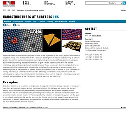 Nanostructures at Surfaces (EPFL Laboratory Lausanne)