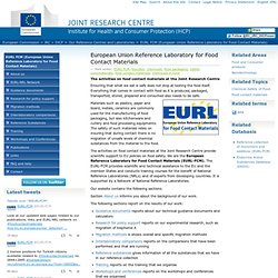 European Union Reference Laboratory for Food Contact Materials — Institute for Health and Consumer Protection – (JRC-IHCP), European Commission