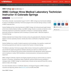 IBMC College Hires Medical Laboratory Technician Instructor in Colorado Springs