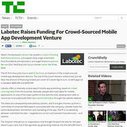 Labotec Raises Funding For Crowd-Sourced Mobile App Development