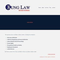Union Law & Labour Arbitration Scarborough — Kung Law