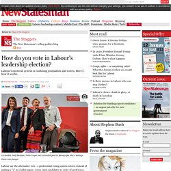 How do you vote in Labour's leadership election?