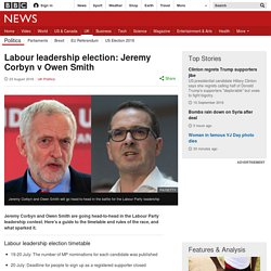 Labour leadership election: Jeremy Corbyn v Owen Smith