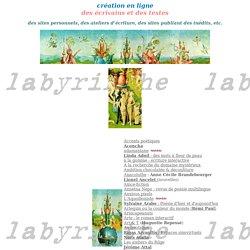 Christine Genin - labyrinthe - création littéraire en ligne