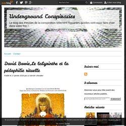 David Bowie,Le labyrinthe et la pédophilie rituelle