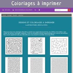 Labyrinthes (Éducatifs) – Coloriages à imprimer