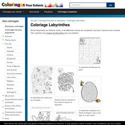 Labyrinthes à colorier - Coloriages pour enfants