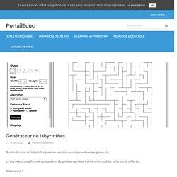 Générateur de labyrinthes – PortailEduc