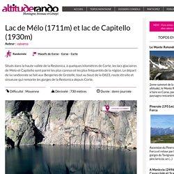 Lac de Mélo (1711m) et lac de Capitello (1930m)