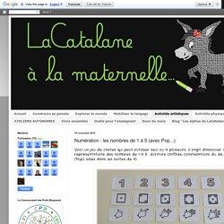 LaCatalane à la maternelle...: Numération : les nombres de 1 à 5 (avec Pop...)