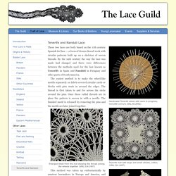The Lace Guild - Tenerife / Nanduti / Sol Lace