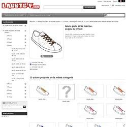 Nos lacets de 70cm, en coton marron-acajou, se vendent 7€67