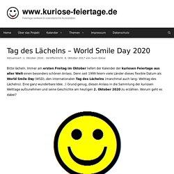 Tag des Lächelns - World Smile Day - 2. Oktober 2020